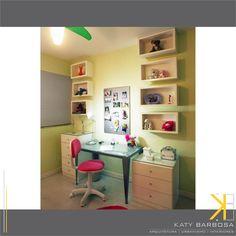 Quarto menina   Área estudo   Cores   Mobiliário   Projeto de Katy Barbosa Aquitetos   Arquitetura . Urbanismo . Design de Interiores