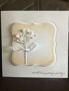 Simple idea for Sympathy card