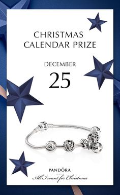 Last chance for a beautiful present from PANDORA. 25th of December treat is a sterling silver bracelet with dazzling charms #PANDORA #PANDORAchristmascontest | www.goldcasters.com