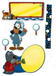 Decorate your classroom walls with a full-sized bulletin board set that gets the class motivated. The Super Sleuths Bulletin Board Set features detective-themed pieces sure to please all the mystery-lovers in class! Includes blank banner, 2 detective dogs, 12 border strips, and 36 magnifying glasses. Teaching guide also included. Picture above may not represent a full set. Classroom Walls, Classroom Themes, Classroom Organization, Detective Theme, Detective Agency, Mission Possible, Blank Banner, Online Toy Stores, Newborn Toys