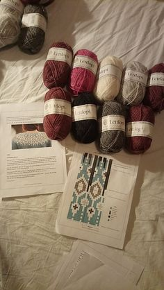 To receive your free pattern, add 3 patterns to your cart at the same time and the discount will apply before checkout. Icelandic Sweaters, Knit Sweaters, Sweater Knitting Patterns, Knitting Designs, I Cord, Textiles, Knit In The Round, Fair Isle Knitting, Crocheting