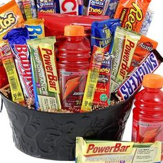 High Energy Gift Basket. For the athlete. Good idea, but this can be made for so much less $$$