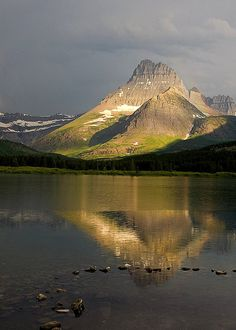 Mt. Wilbur, Swiftcurrent Lake. Awesome.