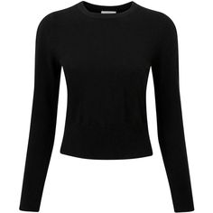 Pure Collection Abbey Cashmere Jumper, Black (3,600 PHP) ❤ liked on Polyvore featuring tops, sweaters, shirts, long sleeves, cashmere shirt, slim fit shirts, long sleeve jumper, extra long sleeve shirts and long sleeve sweater