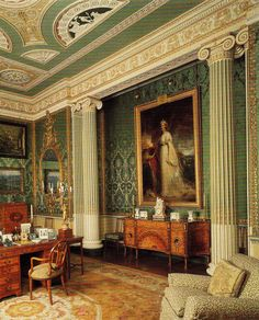 Harewood House - Princess Mary's Sitting Room circa Book: The Genius of Robert Adam - Princess Mary lived at Goldsborough Hall throughout the before her move to Harewood House Classical Architecture, Architecture Details, Harewood House, Georgian Interiors, English Castles, English Manor, Grand Homes, Classic Interior, Country Estate
