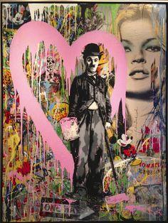Charlie Chaplin, Mr Brainwash @cafebouludTO, #mrbrainwash @Four Seasons Hotel Toronto #fstoronto