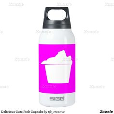 Delicious Cute Pink Cupcake Thermos Bottle