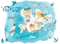 Treasure Hunt in Mykonos - Globe Trotter Trolley Case Mykonos, Santorini, Trolley Case, Greece Vacation, Hotels And Resorts, Creative Director, Globe, Map, Trotter