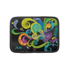Personalized Psychedelic Floral Zippered Folio Planner $55.20