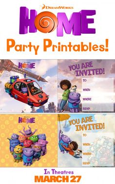 Make your next party a Home theme with these printable invitations. Sponsored by DreamWorks.