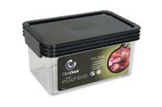 Click Clack Kitchen Essentials 1 Quart Airtight Container, Charcoal Lid by Click Clack. $10.99. BPA free: made of durable, FDA approved polystyrene. Airtight; clear base to easily view contents. Container has 1-quart capacity. Flip lock lid operation: click up to open, clack down to close. Stackable: stay organized and save space; made in new zealand. For more than twenty years Click Clack has been a leading company in the design and manufacturing of quality airtight...