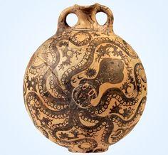 Octopus flask, Palaikastro, Crete