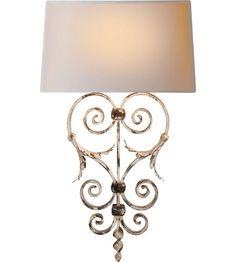 Visual Comfort E.F. Chapman Darlana 1 Light Decorative Wall Light in Rusted White CHD1388RW-NP #visualcomfort