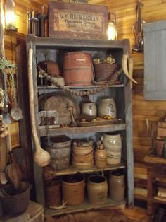 Early cupboard with prims