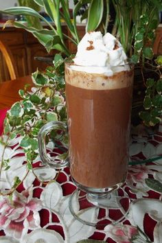 """Vegan Peanut Butter Hot Chocolate 