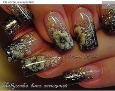 Purple Nail Art, Glitter Nail Art, Green Nails, Ombre Nail Designs, Colorful Nail Designs, Toe Nail Designs, Fingernails Painted, Simple Acrylic Nails, Diva Nails