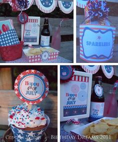 July 4th - Independence Day - Super Deluxe Fireworks Celebration printable party kit. $10.00, via Etsy.