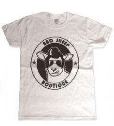Bad Sheep Boutique's own brand unisex t-shirt. T-shirt Logo, Boutique Logo, Great Logos, Sheep, Print Design, T Shirt, Mens Tops, Tee, Tee Shirt