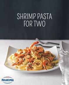 This Valentine's Day, enjoy a romantic, homemade dinner with your special someone! Succulent shrimp is tossed with a creamy tomato basil sauce and served over fettuccine. Bon appétit!