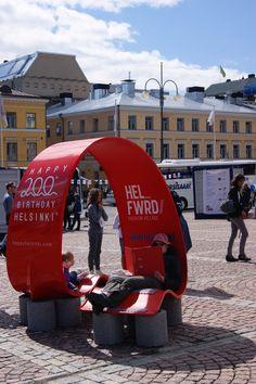 Helsinki Fashion Village on Senate Square of Helsinki. Photo by myPose! ltd.