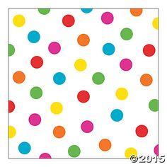 Bright Polka Dot Backdrop Banner