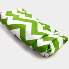 The FLEUR Clutch in Apple Green and White Chevron by ao3designs, $68.00