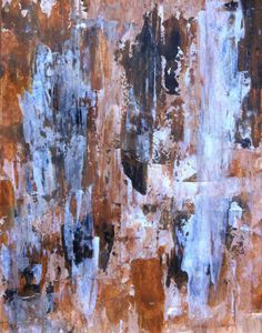 Abstract Art Painting Brown Tan White on Etsy