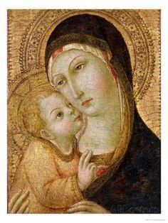 Madonna ja lapsi Giclee-vedos tekijänä Sano di Pietro AllPosters.fi-sivustossa
