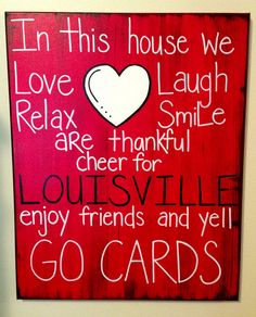 University of Louisville GO CARDS Family Canvas  by loveitbymo, $35.00