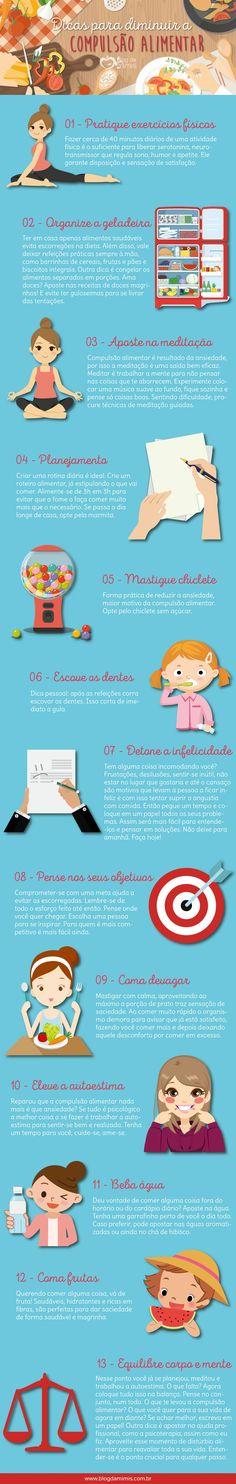 Dicas para diminuir a compulsão alimentar