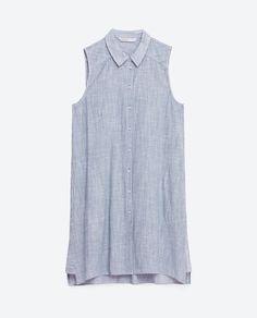 Image 8 de CHEMISE LONGUE RAYURES FINES de Zara