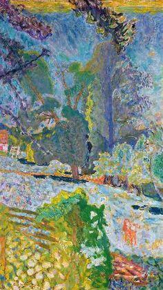 Pierre Bonnard Normandy Landscape 1920 oil on canvas 105 x 60 cm Pierre Bonnard, Pierre Auguste Renoir, Paul Gauguin, Garden Painting, Painting & Drawing, Painting Lessons, Landscape Art, Landscape Paintings, Edouard Vuillard