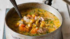 Lahodná a sytá polévka je díky batátům a kukuřici sladší. Při sychravých večerech tak není nic lepšího, než si dopřát teplou sladkou tečku za náročným dnem. Cheeseburger Chowder, Mozzarella, Tofu, Thai Red Curry, Ethnic Recipes