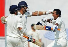 Mohali, October 1, 2010 VVS Laxman despite a sore back becomes the hero of a nail-biting one-wicket victory for India. Click the picture for a look at that memorable scorecard.