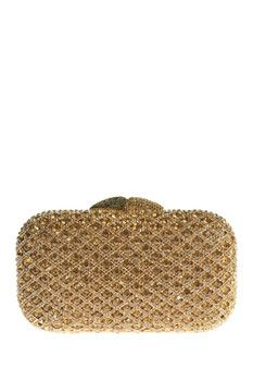 the Nude Face Gold Clutch
