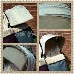 Cream quilted hood for a bugaboo donkey Bugaboo Stroller, Bugaboo Donkey, Hood Pattern, Aprons, Hoods, Cream, Sewing, Baby, Accessories