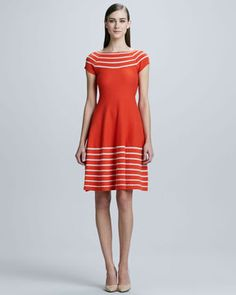 73284f2b9d17 Kate Spade Amaila Fit-And-Flare Sweater Dress Red Fashion, Work Fashion,