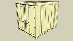 Refrigerated High Cube cargo container, model version B, ISO sized. History: - Updated Model - First Model Reefer Container, Cargo Container, 3d Warehouse, Train Car, Showroom, Cube, Tv, Model, Home Decor