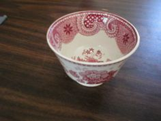 "From the archives at Atwood House Museum, Chatham, MA: ""Moss rose"" patterned tea cups with no handles.  Transfer ware. No marks. Milanese Villas Pattern. Gift of Laura E. Nickerson.  Normally housed in the  Joseph C. Lincoln Room at Atwood House Museum. #atwoodhouse, #chathamhistoricalsociety, #tea, #teatime, #transferware, #antique, #capecod, #chatham"