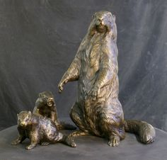 Bronze Marmots for the Paradise Visitor Center at Mt. Rainier | Blue Rhino Studio