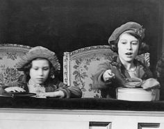 Princess Elizabeth and Princess Margaret, 1938.