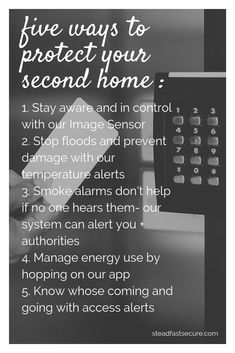 don't spend extra time trying to check on your second home! know what's going on right from your phone. our system helps you keep your second property running smoothly! Steadfast serves Kearney, NE and the Kansas City metro area. Security Service, Security Door, Security Camera, Intruder Alarm, Smoke Alarms, Protecting Your Home, Home Automation, Kansas City, Running