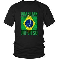 Brazilian Jiu JItsu flag T-shirt - District Unisex Shirt / Black / S | Unique tees, hoodies, tank tops  - 1