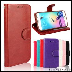 Crazy Horse Leather Mobile Phone Case For Samsung Galaxy S6 Edge G925 With Stand Holder Cellphone Fundas For SamsungS6 Edge G925