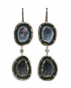 Kimberly McDonald geode earrings