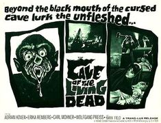 CAVE OF THE LIVING DEAD aka NIGHT OF THE VAMPIRES 1964 lobby poster