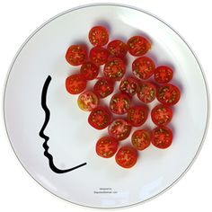 I want to paint a face on all my plates and play with my food!