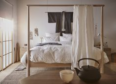All The Home Products You Need From Ikea's 2018 Catalog Bedroom Nook, Ikea Bedroom, Home Bedroom, Bedroom Decor, Ikea Canopy Bed, Master Bedroom, Bedrooms, Cama Ikea, Ikea 2018