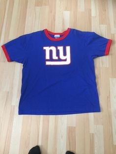 Vintage Reebok New York Giants T Shirt. Made In Canada. New York Broadway, Sport C, Vintage New York, New York Giants, Selling On Ebay, Canada, How To Make, Shirts