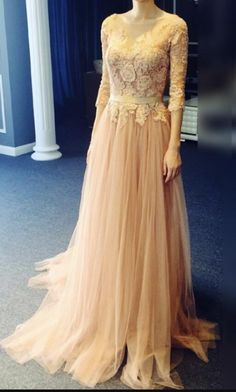 Appliques Lace Half Sleeve Prom Dress, Sexy Prom#prom #promdress #dress #eveningdress #evening #fashion #love #shopping #art #dress #women #mermaid #SEXY #SexyGirl #PromDresses